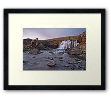 Sea Waterfall Framed Print