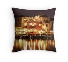 Evening in Crete Throw Pillow