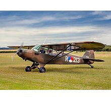 Piper L-21A Super Cub R-213 PH-RED Photographic Print