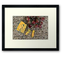 Cheese and biscuits Framed Print