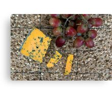 Cheese and biscuits Canvas Print