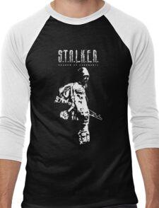 Stalker SOC White Men's Baseball ¾ T-Shirt
