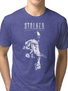 Stalker SOC White Tri-blend T-Shirt