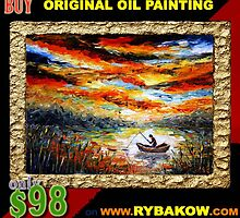 Special offer: Buy oil painting ONLY $89 on www.rybakow.com by valery rybakow