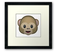 Monkey Emoji Framed Print