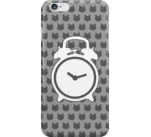 Alarm Clock and Stray Cat Background iPhone Case/Skin