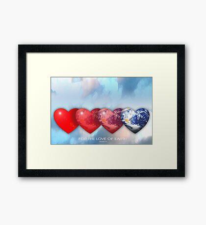 love of earth Framed Print
