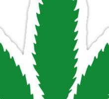 cannabis weed leaf Sticker