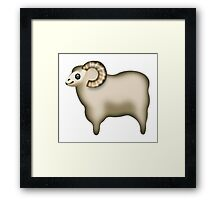 Sheep Emoji Framed Print