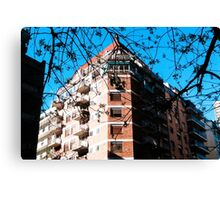 Hotel Trees Canvas Print