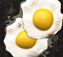Fried Sunny Side Up Eggs by bloomingvine