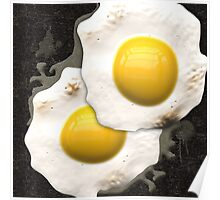 Fried Sunny Side Up Eggs Poster