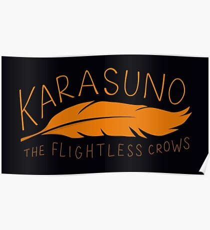Karasuno - The Flightless Crows Poster