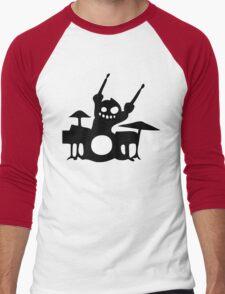 drum cartoon  drummer music batteur batterie Men's Baseball ¾ T-Shirt