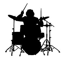 drum   drummer music batteur batterie Photographic Print