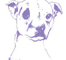 Pooch Portrait ink on canvas with blue filter. by daleymilk