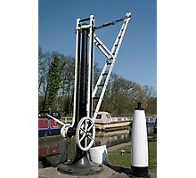 Old Canal Side Crane, Fradley Junction  Photographic Print
