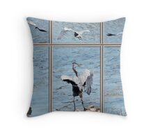 BIRD PANEL Throw Pillow