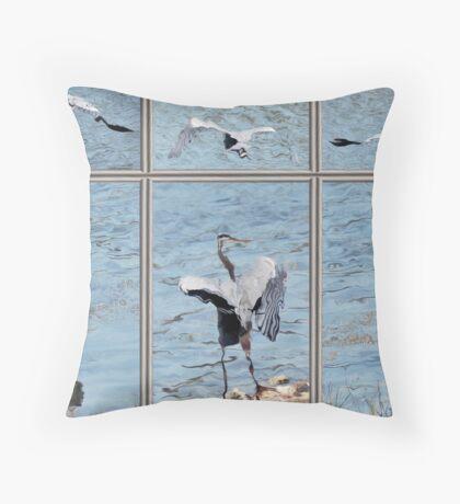 BIRD PANEL Throw Pillow