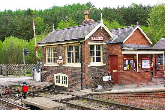 The Signal Box - Levisham Station by Trevor Kersley