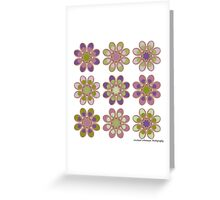 Grapes On the Vine Foot Flowers Greeting Card