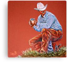 """Camp Coffee"" Canvas Print"