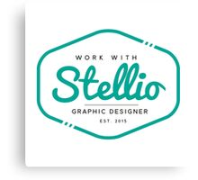 Work with Stellio - Graphic Designer Brand Canvas Print