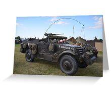 Military vehicle Greeting Card