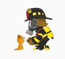 Firefighter rescues kitten Unisex T-Shirt