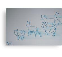 Deer Drawing Canvas Print