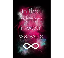 i swear, we were infinite Photographic Print