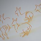 Deer Running Drawing by MikeJory