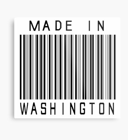Made in Washington Metal Print
