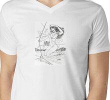 Aye Aye Matey - B&W by Al Rio Mens V-Neck T-Shirt