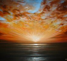 Sunrise Seascape by Cherie Roe Dirksen