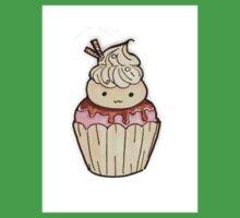 Cute Ice Cream Cupcake  One Piece - Short Sleeve