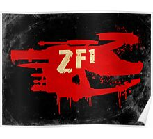 ZF1 Red Poster