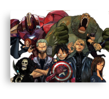 One Piece Avengers Canvas Print