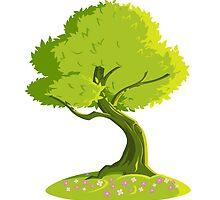 green tree by Evgenii Sidorov