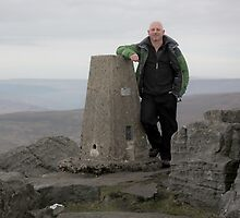 Me At The Great Whernside Trig Post by SteveMG
