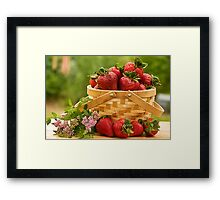 Strawberries Any one? Framed Print