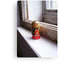 dolly on the sill. Canvas Print