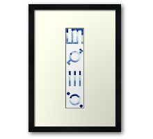 glyphics - 30 seconds to mars  Framed Print