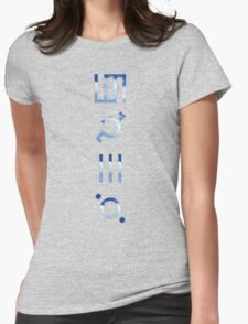 glyphics - 30 seconds to mars  Womens Fitted T-Shirt