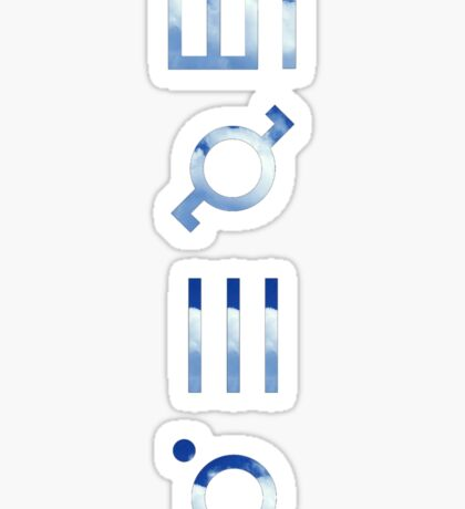 glyphics - 30 seconds to mars  Sticker