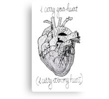 i carry your heart, i carry it in my heart Canvas Print