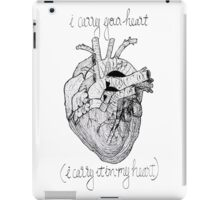 i carry your heart, i carry it in my heart iPad Case/Skin