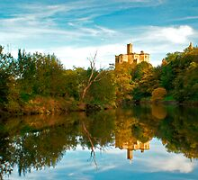 AUTUMN REFLECTIONS AT WARKWORTH by Michael Halliday