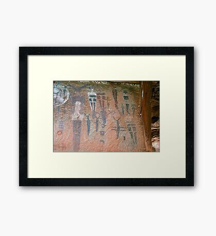 Courthouse Wash Pictographs Framed Print