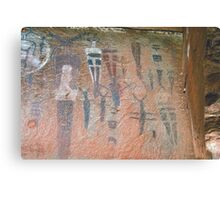 Courthouse Wash Pictographs Metal Print